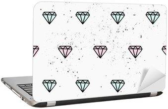 Naklejka na Laptopa Ręcznie rysowane diamenty bez szwu