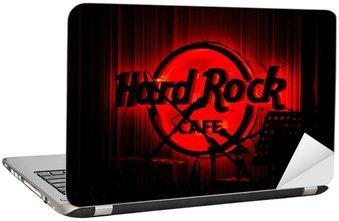 Naklejka na Laptopa Red Glowing Hard Rock Cafe w Koncercie