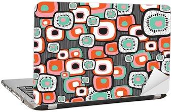 Naklejka na Laptopa Retro lawy kwiat kwadratów