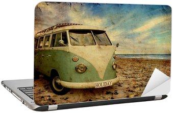Naklejka na Laptopa Retroplakat - Bulli am Strand