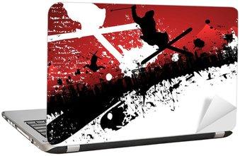 Naklejka na Laptopa Ski freestyle abstrakcyjne tło