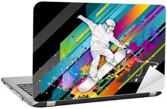 Naklejka na Laptopa Snowboarder