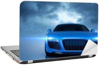 Naklejka na Laptopa Sport samochodowy niebieski