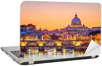 Naklejka na Laptopa St. Katedra Piotra w nocy, Rzym
