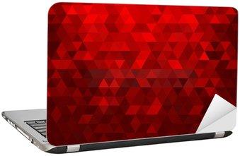 Naklejka na Laptopa Streszczenie czerwonym tle mozaiki