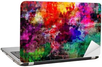 Naklejka na Laptopa Styl grunge abstrakcyjne tło akwarela