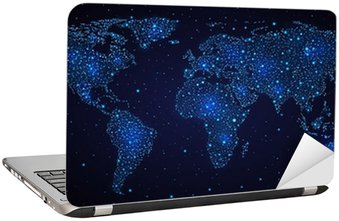 Naklejka na Laptopa Świat, w niebie