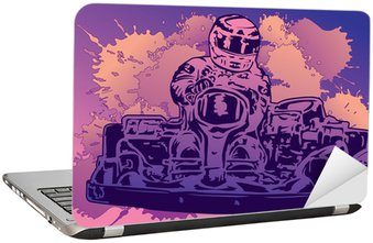 Naklejka na Laptopa Szybkie wyścigi