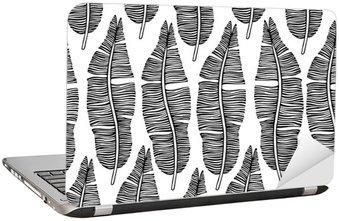 Naklejka na Laptopa Tropical modne szwu z egzotycznych liści palmowych.