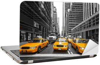 Naklejka na Laptopa Tyellow taksówki w Nowym Jorku, USA.