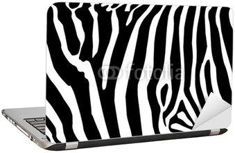 Naklejka na Laptopa Vector - zebra tekstury czarny i biały
