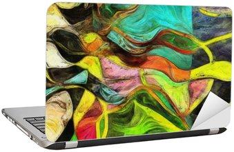 Naklejka na Laptopa Wirujące kształty, kolor i linie