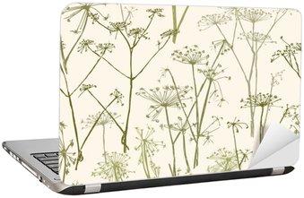 Naklejka na Laptopa Wzór kwiatów parasolowe