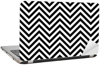 Naklejka na Laptopa (Zig-Zag, zygzakowaty wzór, paski, paski, tło tapety s)