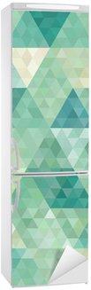 Naklejka na Lodówkę Bezszwowe tło z abstrakcyjnym ornamentem geometrycznym