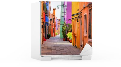 Naklejka na Lodówkę Kolorowa ulica we Włoszech