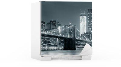 Naklejka na Lodówkę New York City Brooklyn Bridge