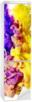 Naklejka na Lodówkę Splash farby