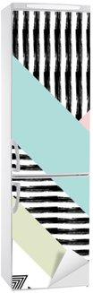 Naklejka na Lodówkę Streszczenie ręcznie rysowane wzór geometryczny