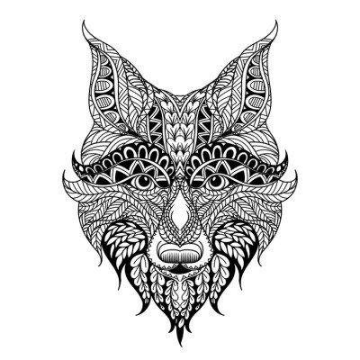 Naklejka na Ścianę Czerwony lis