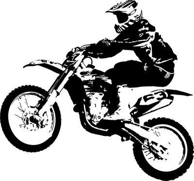 Naklejka na Ścianę Motocross zworka