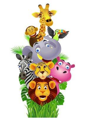 Naklejka na Ścianę Śmieszne zwierzęta