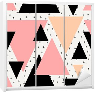 Naklejka na Szafę Abstrakcyjne geometryczne powtarzalne wzór