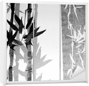 Naklejka na Szafę Bambusa tekstury