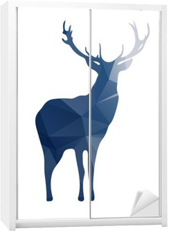 Naklejka na Szafę Deer sylwetka kształtów geometrycznych