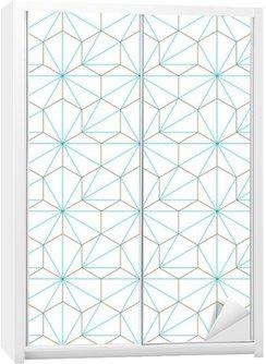 Naklejka na Szafę Hexagone-cube géométrique