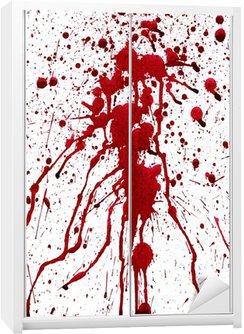 Naklejka na Szafę Krwawe plamy