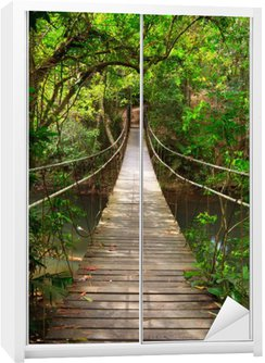 Naklejka na Szafę Most do dżungli, park narodowy Khao Yai, Tajlandia