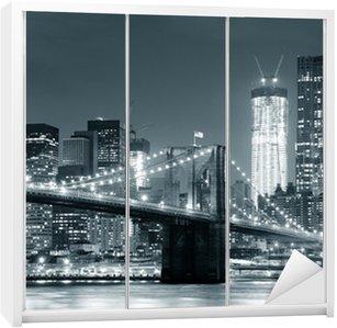 Naklejka na Szafę New York City Brooklyn Bridge