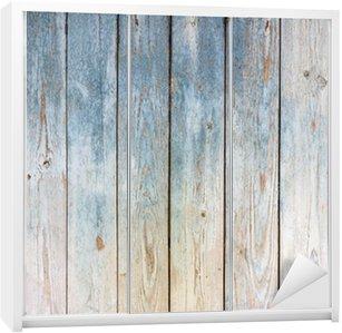 Naklejka na Szafę Zabytkowe drewniane tle niebieski