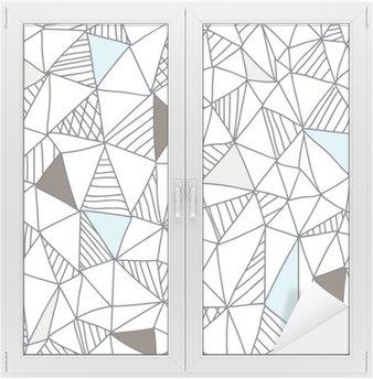 Naklejka na Szybę i Okno Abstrakcyjna powtarzalny doodle wzór