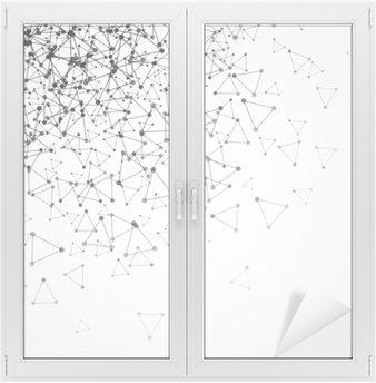 Naklejka na Szybę i Okno Abstrakcyjna tła z kropkami siatki i komórki trójkątne. ilustracji wektorowych