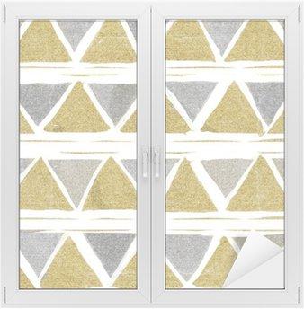 Naklejka na Szybę i Okno Abstrakcyjne bezszwowych wzór złoty