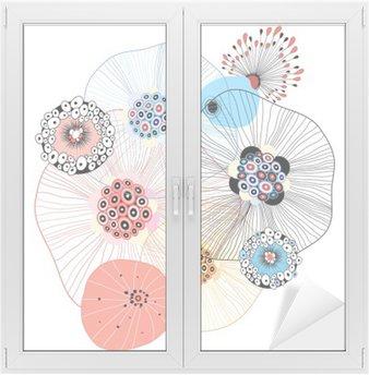 Naklejka na Szybę i Okno Abstrakcyjne elementy