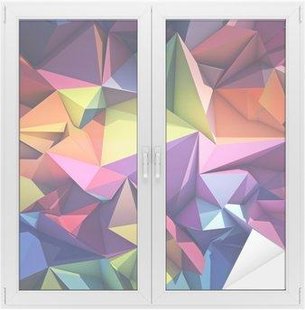 Naklejka na Szybę i Okno Abstrakcyjne geometryczne tle