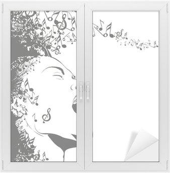 Naklejka na Szybę i Okno Abstrakcyjny wzór tła