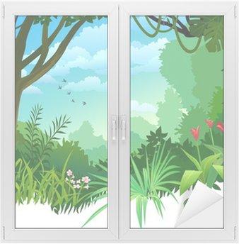 Naklejka na Szybę i Okno Amazon dżungli i pustyni drzewa