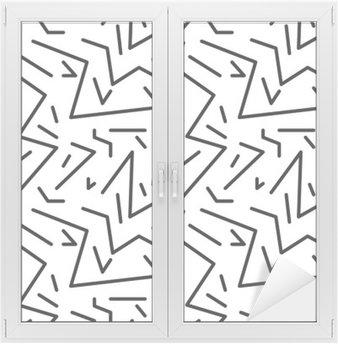Naklejka na Szybę i Okno Bezproblemowa geometryczny wzór w stylu retro vintage, 80s stylu, Memphis. Idealny do projektowania tkanin, papieru i druku strony tło. EPS10 plik wektorowy