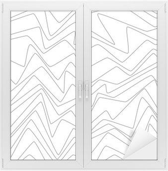 Naklejka na Szybę i Okno Bezszwowy Minimalne linie abstrakcyjne strpes papieru tekstylna tkanina wzór