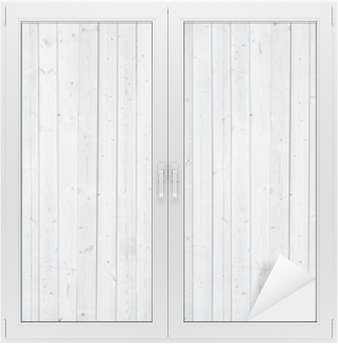 Naklejka na Szybę i Okno Biała ściana