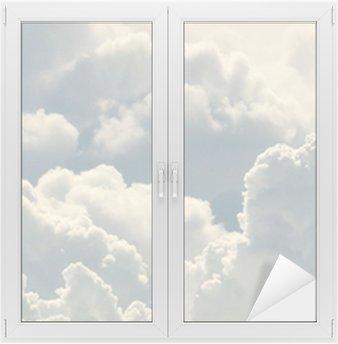 Naklejka na Szybę i Okno Błękitne niebo i piękne chmury