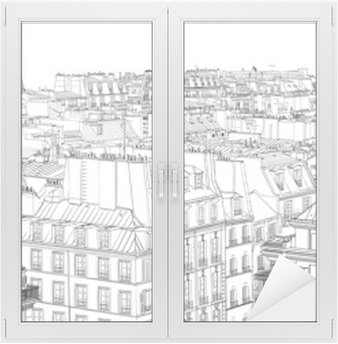 Naklejka na Szybę i Okno Dachy w Paryżu