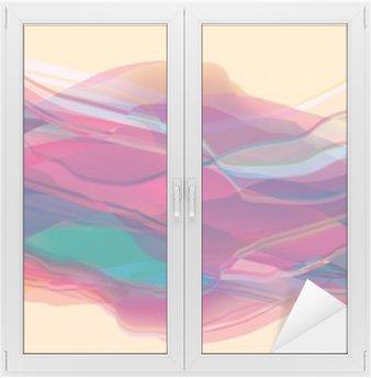 Naklejka na Szybę i Okno Fale kolor, streszczenie powierzchni, nowoczesne tło, wektor projektowania Ilustracja do projekcji