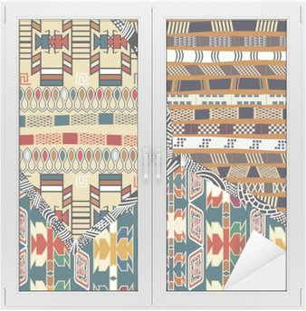 Naklejka na Szybę i Okno Indian plemiennych kolorowych ilustracji bez szwu pattern.Vector