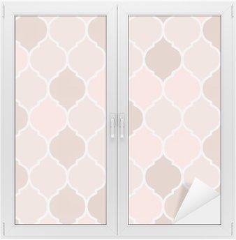 Naklejka na Szybę i Okno Jednolite wzór różowe kafelki, wektor