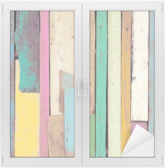Naklejka na Szybę i Okno Kolorowa grafika malowane materiału drzewnego dla rocznika tle tapety.